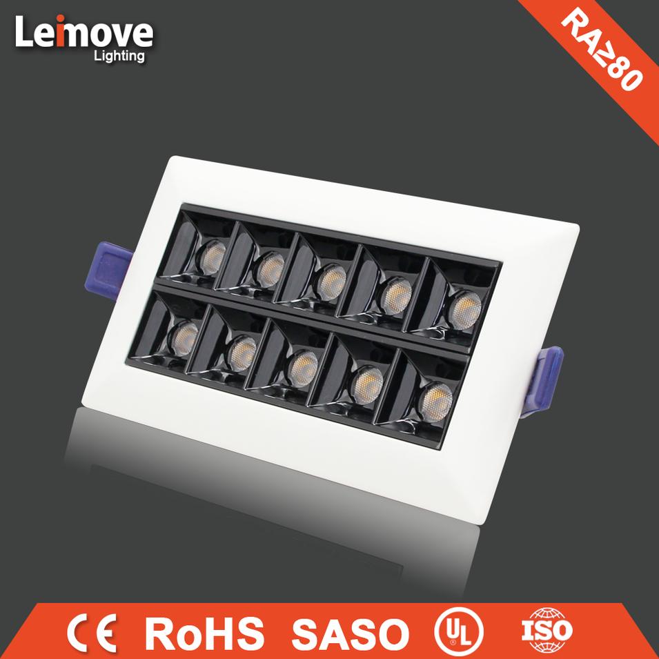 Square LED Grille Light High Quality Hot Sales Single ten Head Led Spot Light