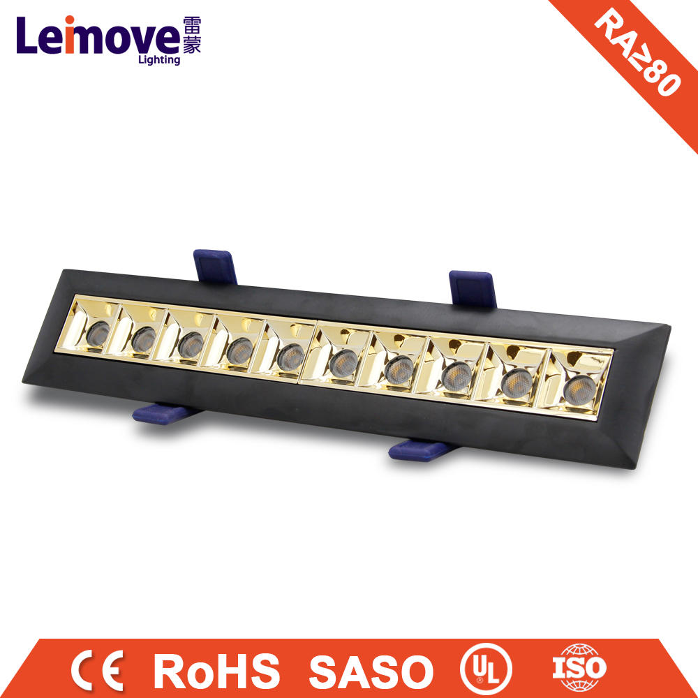 Square LED Grille Light High Quality Hot Sales Single ten Head Led Spot Light