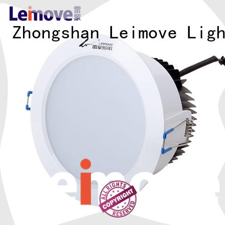 commercial illumination led down light round white milky for sale