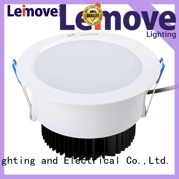 commercial illumination bathroom led downlights round white milky for customization