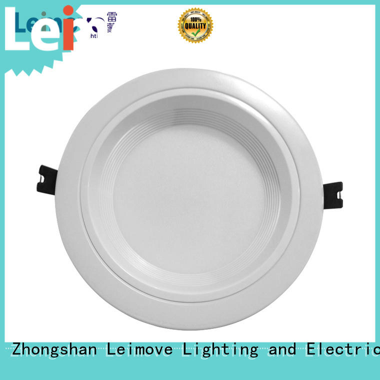 Leimove commercial illumination outdoor led downlights white milky for customization