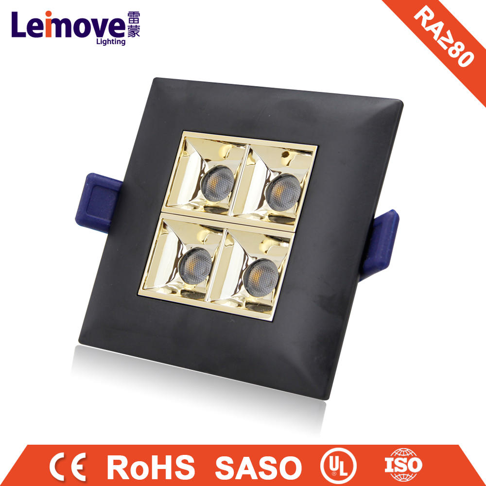 Hot sale indoor recessed aluminum led grille light downlight fittings 6 inch recessed led downlight 12w