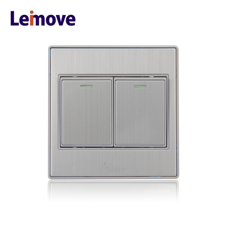 China Manufacturer Wholesale LEIMOVE 2 gang led light wall switch