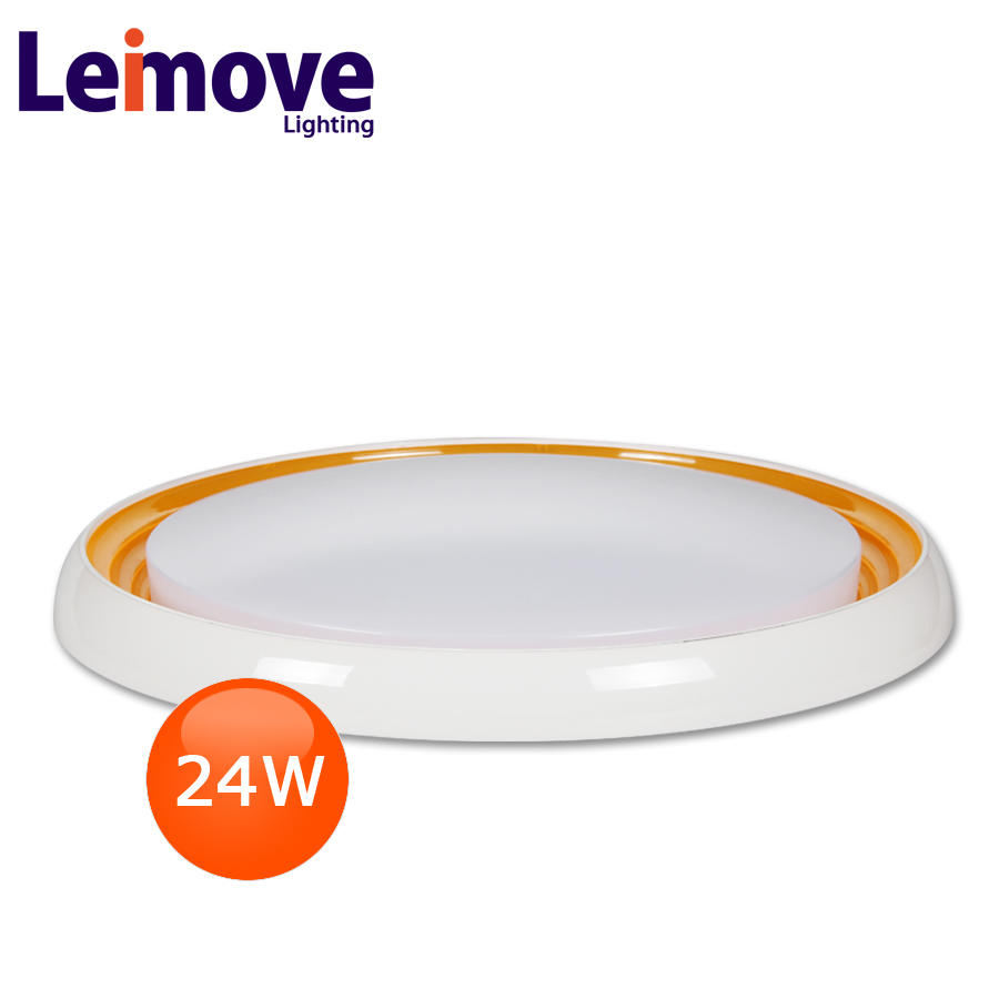 Safety white surface ceiling light crystal