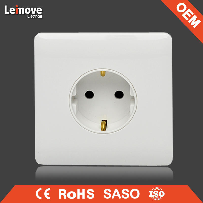 E08 Economic Shucko socket EU type outlet germany faceplate and receptacle