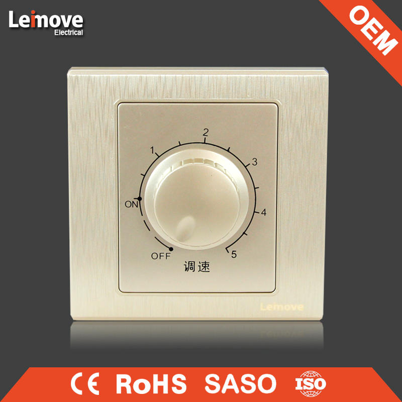 woven gold finish fan regulator switch fan speed control switch