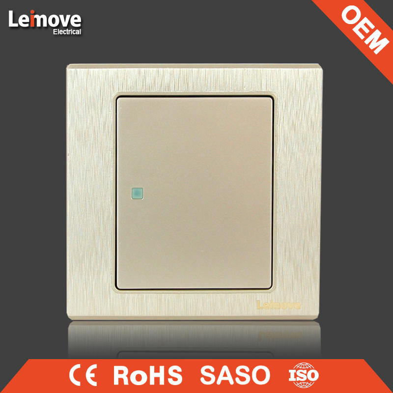 woven gold finish one gang one/two way wall switch arbitrary point switch