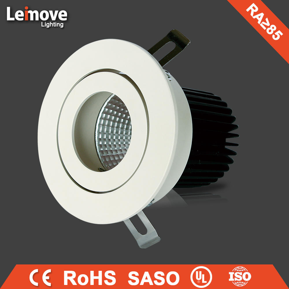60 Degree Beam Angle 1000lm GU10 10W aluminium led spotlight