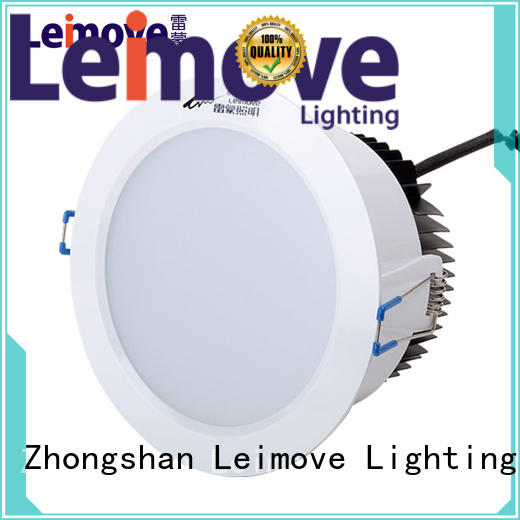 Leimove ceiling decoration adjustable led downlights white milky for wholesale