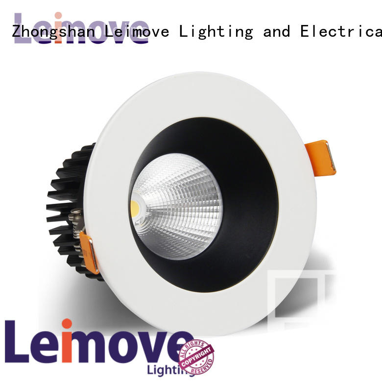 commercial illumination adjustable led downlights anti-dazzling white milky for wholesale