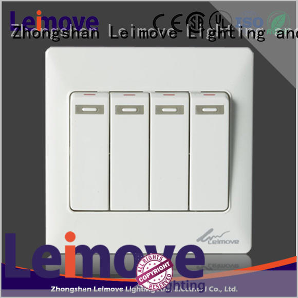 Leimove shock resistance electric switch simple structure lighting accessories