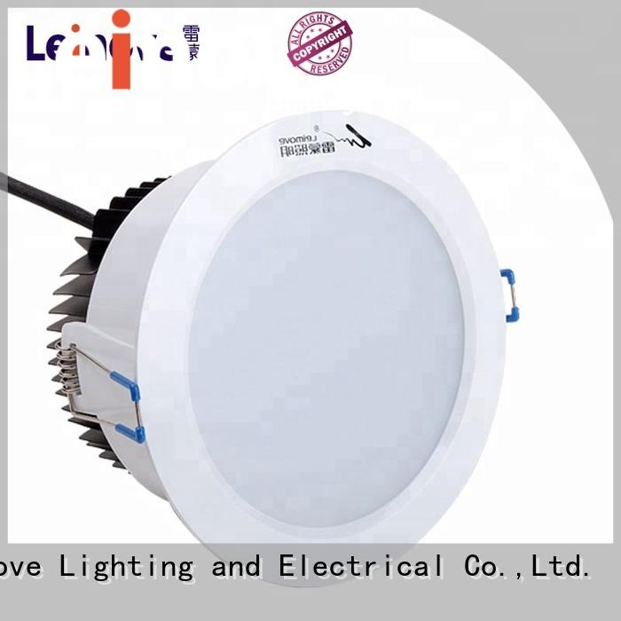Leimove years warranty led recessed downlights white milky for customization