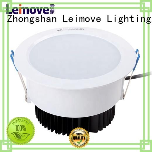 Leimove anti-dazzling outdoor led downlights white milky for wholesale
