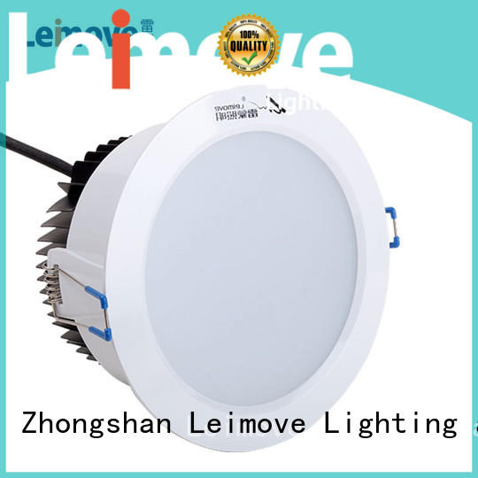 Leimove round dimmable led downlights white milky for sale