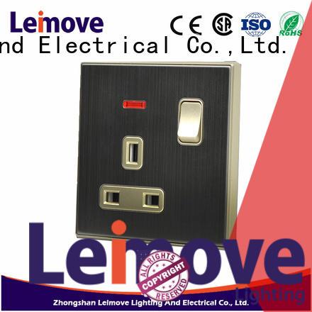 Leimove popular plug socket wholesale bulk production