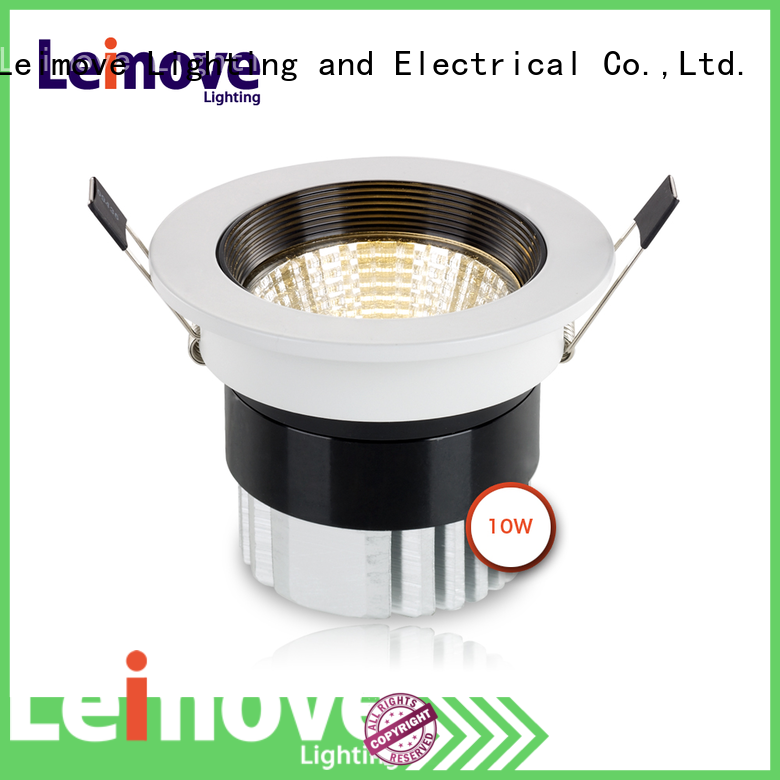 Leimove round shape dimmable led spotlights ceiling for decoration
