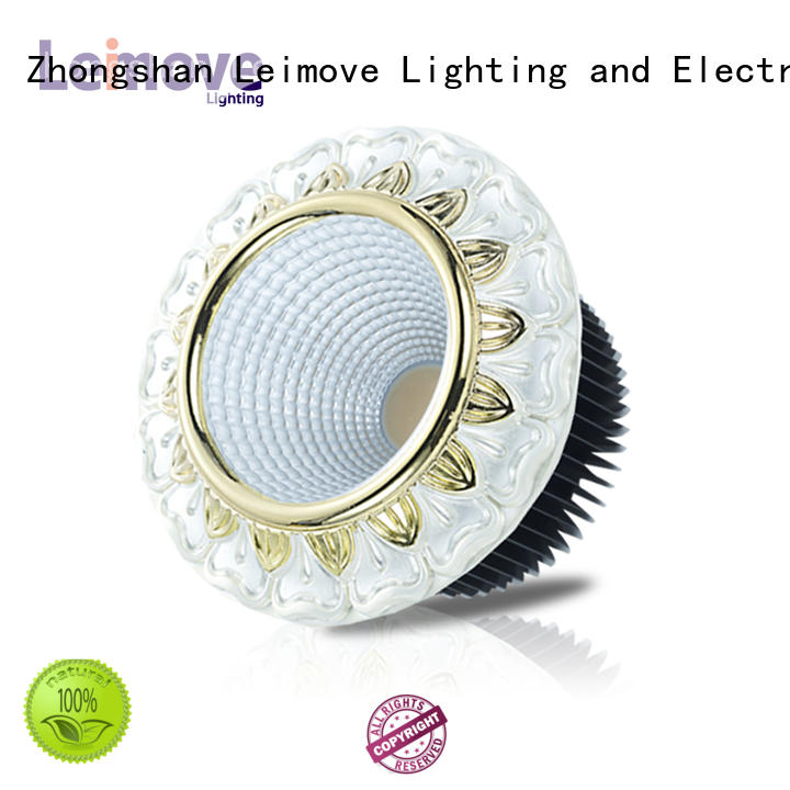Leimove commercial illumination outdoor led downlights white milky for sale