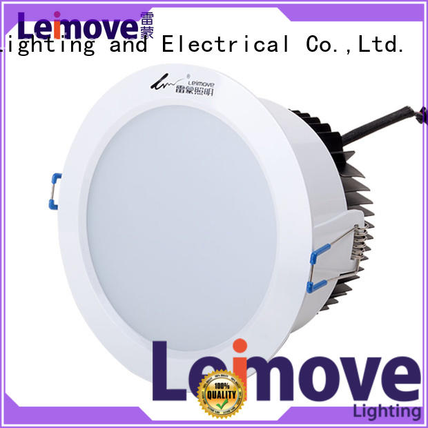 Leimove energy-saving dimmable led downlights white milky for customization