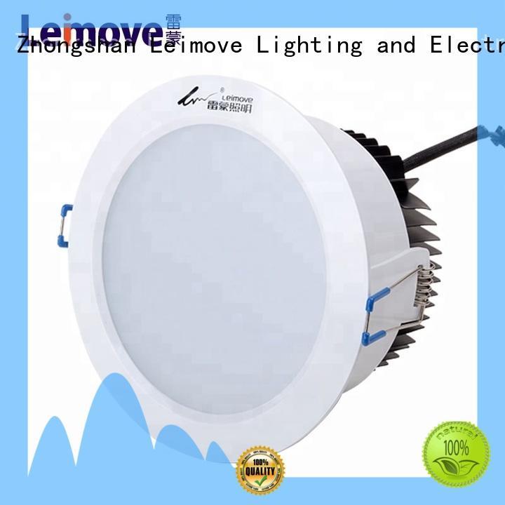 Leimove commercial illumination adjustable led downlights custom made for customization