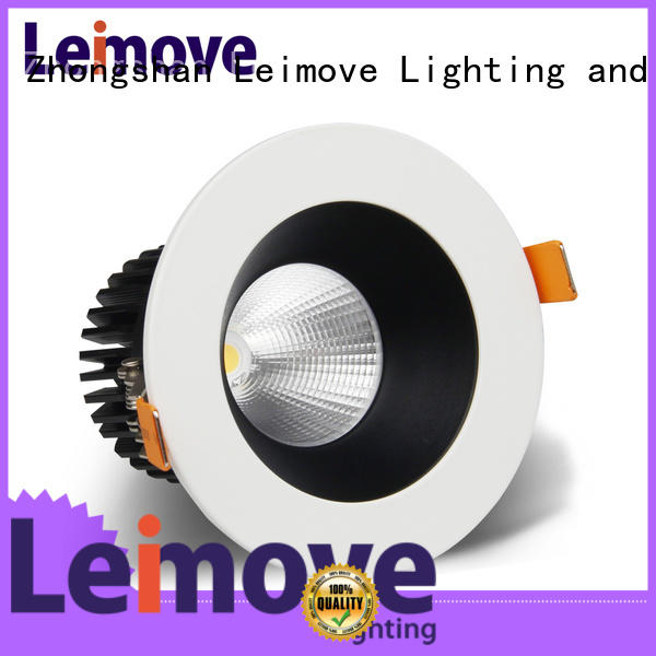 Leimove commercial illumination led down light white milky for customization
