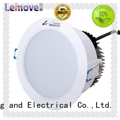 Leimove cob dimmable led downlights white milky for wholesale