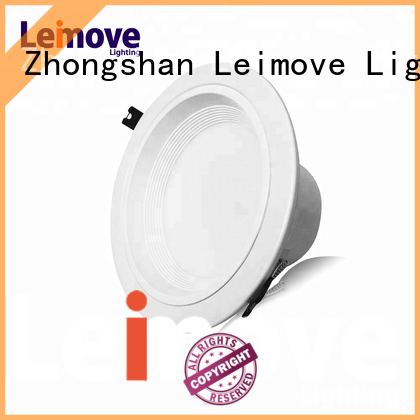 Leimove commercial illumination dimmable led downlights white milky for customization