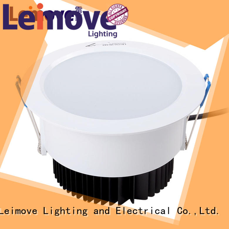 Leimove recessed slim led downlights white milky for sale