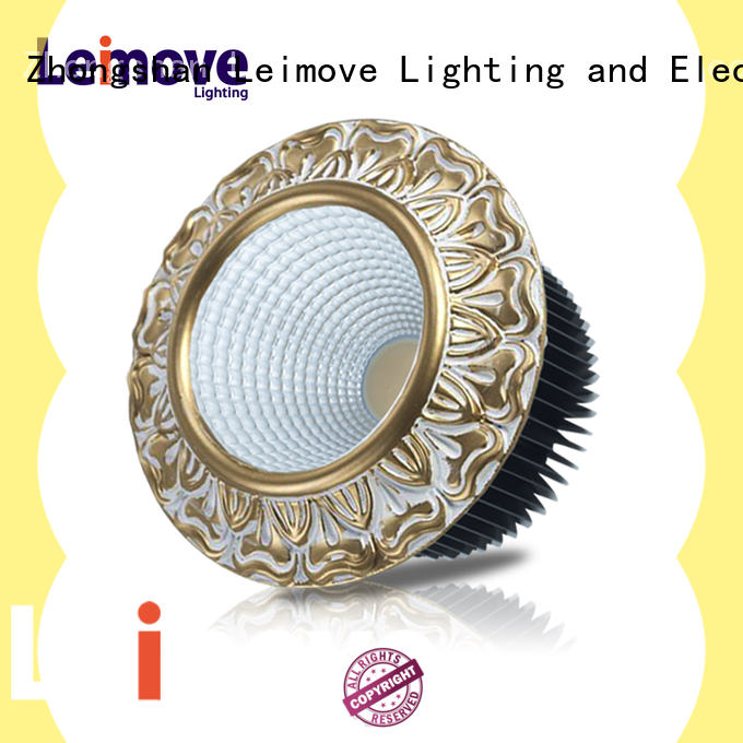 Leimove ceiling decoration bathroom led downlights white milky for customization