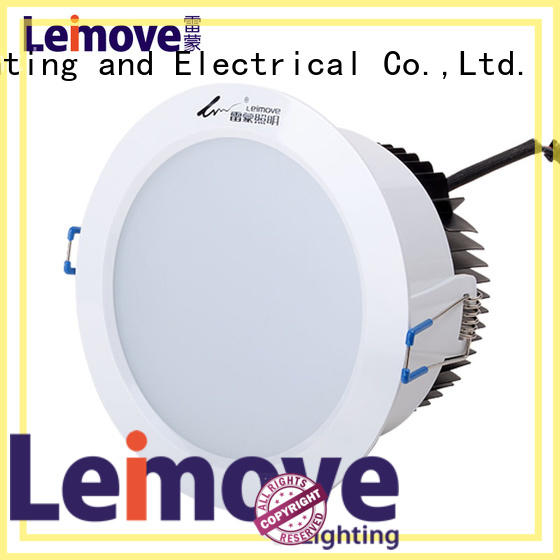 Leimove ceiling decoration slim led downlights white milky for customization